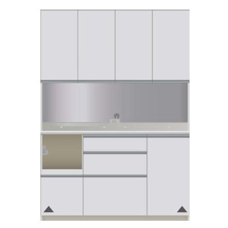 【パモウナ 食器棚】 開梱設置 CIL-S1400R キッチン収納 食器棚 キッチンボード 開き扉 送料無料