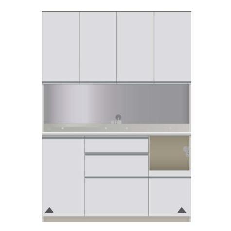 【パモウナ 食器棚】 開梱設置 CIR-1400R キッチン収納 食器棚 キッチンボード 開き扉 送料無料
