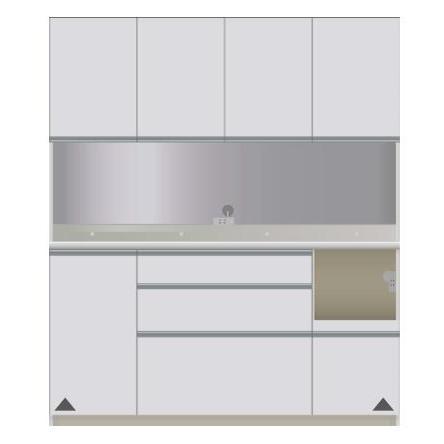 【パモウナ 食器棚】 開梱設置 DIR-1600R キッチン収納 食器棚 パモウナ食器棚 キッチンボード 開き扉 送料無料