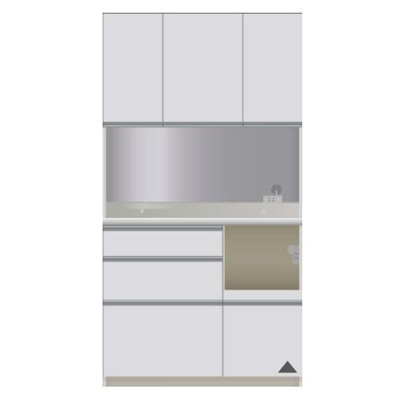 【パモウナ 食器棚】 開梱設置 DIR-S1000R キッチン収納 食器棚 パモウナ食器棚 キッチンボード 開き扉 送料無料