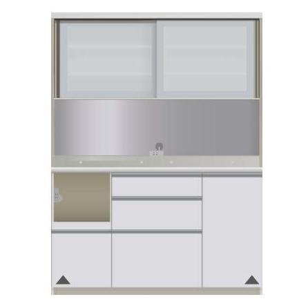 【パモウナ 食器棚】 開梱設置 JIL-1400R キッチン収納 食器棚 キッチンボード 送料無料