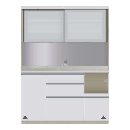 【パモウナ 食器棚】 開梱設置 JIR-1400R キッチン収納 食器棚 キッチンボード 送料無料
