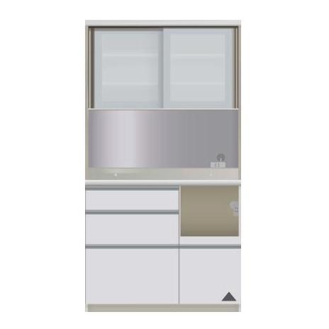 【パモウナ 食器棚】 開梱設置 JIR-S1000R キッチン収納 食器棚 キッチンボード 送料無料