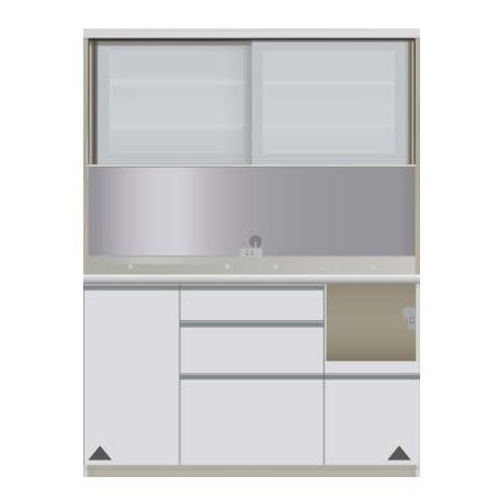 【パモウナ 食器棚】 開梱設置 JIR-S1400R キッチン収納 食器棚 キッチンボード 送料無料
