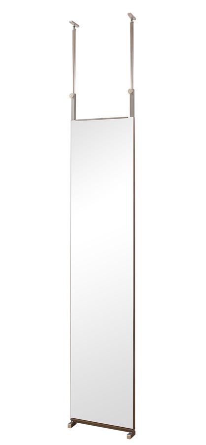 両面ミラー 姿見鏡 全身鏡 突っ張り 間仕切り パーテーション スタンドミラー 幅40センチ 鏡 ミラー 突っ張り間仕切り両面ミラー 【送料無料】
