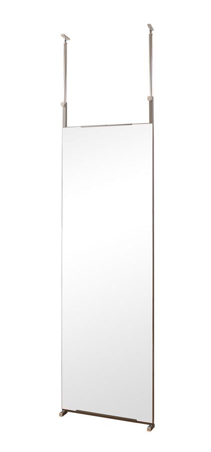 両面ミラー 突っ張り 間仕切り 姿見鏡 全身鏡 スタンドミラー パーテーション 幅60cm 鏡 ミラー 突っ張り間仕切り両面ミラー 【送料無料】