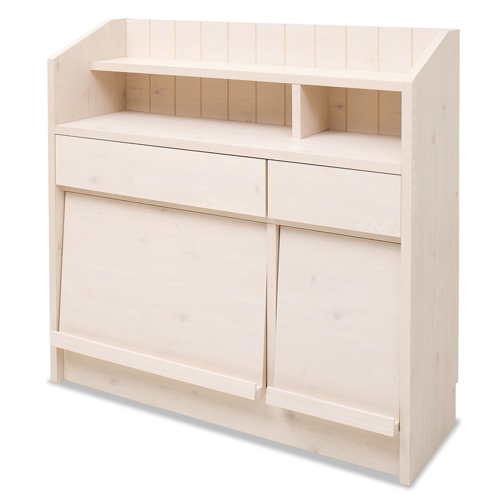 キッチン・リビング収納   カウンタ-下ディスプレイキャビネット 90.5cm 幅   NO-0020
