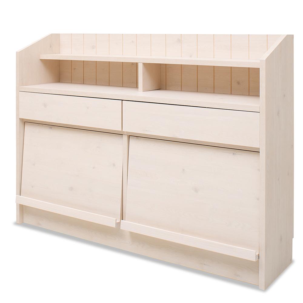 キッチン・リビング収納 | カウンタ-下ディスプレイキャビネット 118.5cm 幅 | NO-0021