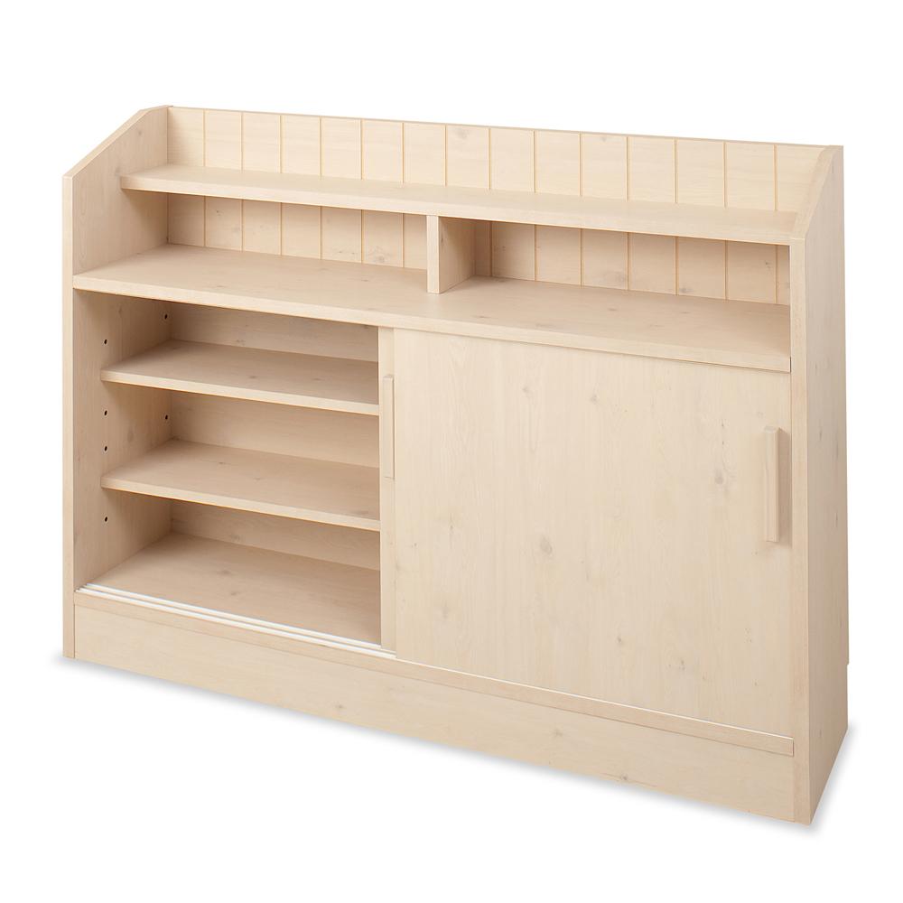 キッチン収納 リビング収納 | カウンタ-下引戸キャビネット 118.5cm 幅 | NO-0024