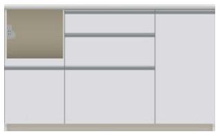 パモウナ 食器棚 VIL-S1400R キッチンカウンター パモウナ食器棚 下台販売 送料無料 奥行45