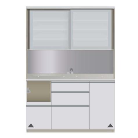 【パモウナ 食器棚】 開梱設置 VIL-1400R キッチン収納 食器棚 キッチンボード 送料無料