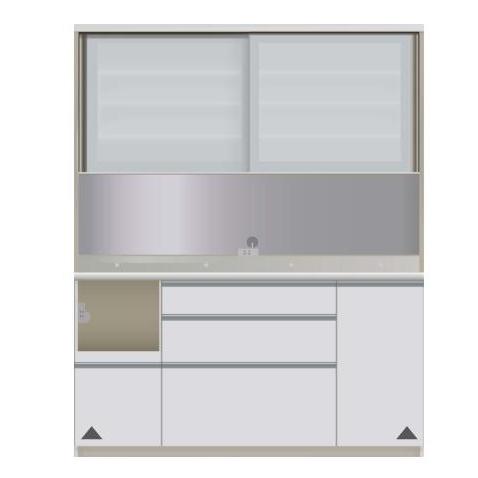 【パモウナ 食器棚】 開梱設置 VIL-1600R キッチン収納 食器棚 キッチンボード 送料無料
