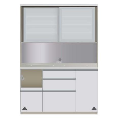 【パモウナ 食器棚】 開梱設置 VIL-S1400R キッチン収納 食器棚 キッチンボード 送料無料
