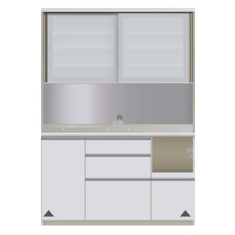 【パモウナ 食器棚】 開梱設置 VIR-1400R キッチン収納 食器棚 キッチンボード 送料無料