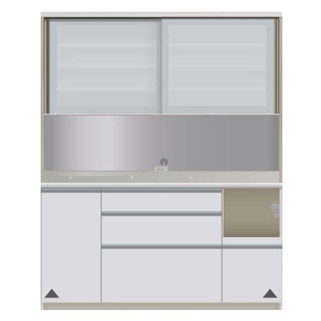 【パモウナ 食器棚】 開梱設置 VIR-1600R キッチン収納 食器棚 キッチンボード 送料無料