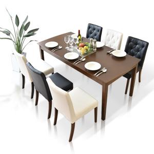 ダイニングテーブルセット ダイニングテーブル7点セット 幅165cm 食卓7点セット 6人用 6人掛け 食卓セット モダン ブラック ホワイト ダイニング シンプル テーブル