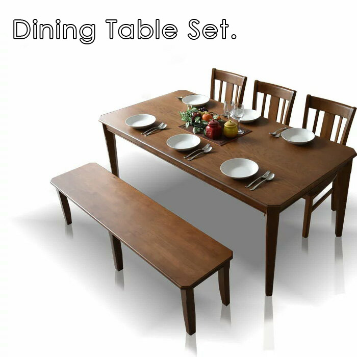 ダイニングテーブルセット 180cm ダイニングセット ダイニング5点セット 6人掛け ダイニングチェア ダイニングテーブル 食卓 食卓セット テーブル チェア 椅子 イス シンプル レトロテイスト 板座面 PVC座面