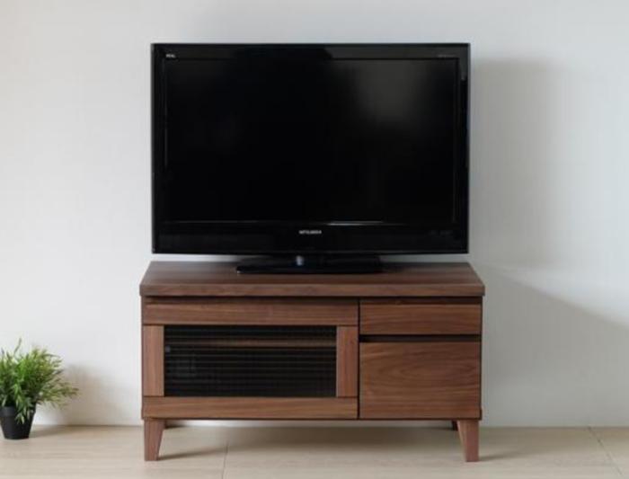 天然木アルダー材使用ナチュラル&ウォールナット材木製自然塗装オイル仕上げ脚付きデザイン80cm 無垢材 突き板80cm100cm150cm3サイズ 2素材から選べます送料無料