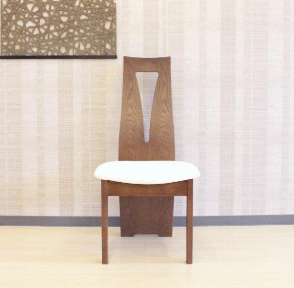 天然木タモ無垢材積層合板曲げ木加工ダイニングチェアー貼り地カスタムオーダーできます木製椅子ソフトレザー国産・日本製・北欧モダン・食卓椅子・ハイバックエコ仕様