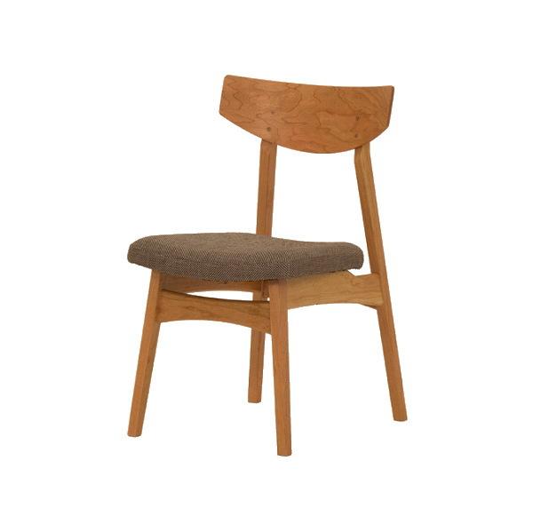 天然木ブラックチェリー無垢材のダイニングチェアー北欧モダンデザインの曲げ木加工の掛け心地のいい椅子オーダーメイド国産・日本製/食卓椅子ファブリック布張り