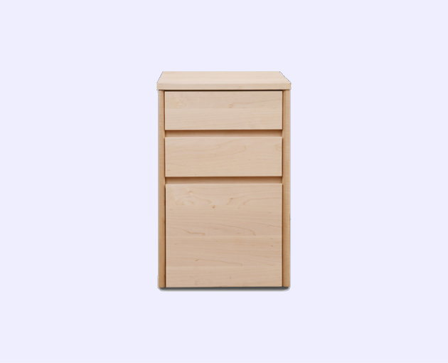 【送料無料】天然木メープル無垢材のデスクワゴン『木の机』将来型デスク・オイル塗装仕上げ国産・日本製本体のみ・ワゴンチェスト・木の風合いナチュラル木製