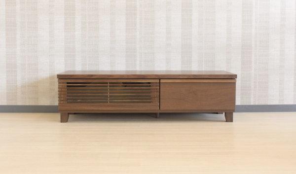 天然木ウォールナット材使用のロータイプテレビボード【90x45】【120x45】【150x45】【180x45】テレビ台4サイズの中からお選びいただけます木製・国産日本製格子・和モダン・台輪タイプもございます!