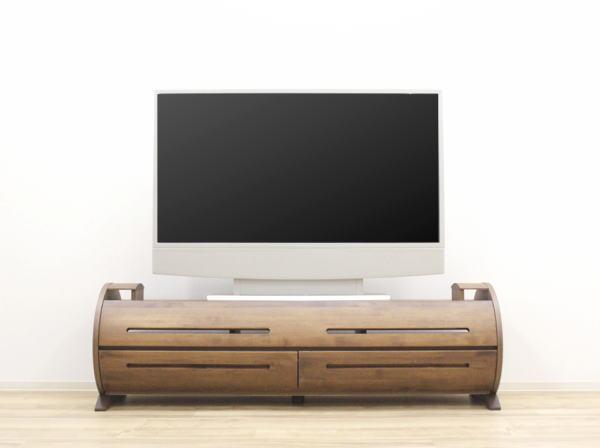 天然木ウォールナット/アルダー材使用の日本製・国産のテレビボード ナチュラルなレッドオーク材も制作できます120cm150cm180cm突板・無垢材使用・エコ仕様仕上げ組み合わせ