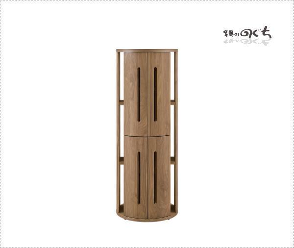 天然木ウォールナット/アルダー材使用の日本製・国産のシェルフ 棚 ナチュラルなレッドオーク材も制作できますミドル高突板・無垢材使用・エコ仕様仕上げ組み合わせ