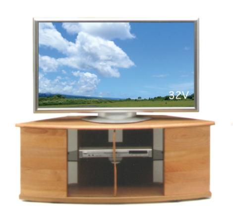 【送料無料】ナチュラルでシンプルモダンな曲線的なフォルムが人気のコーナー型ボードナチュラル色のみ天然木アルダー材国産・日本製・オイル塗装仕上げ・コーナーテレビボード