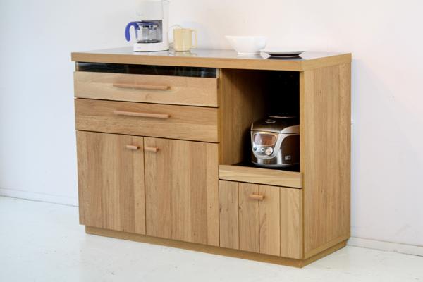 【開梱設置配送】 キッチンカウンター 幅120 高さ85 おしゃれ 北欧 カントリー ホワイトオーク 木製 ステンレス 国産 収納 120カウンター 完成品