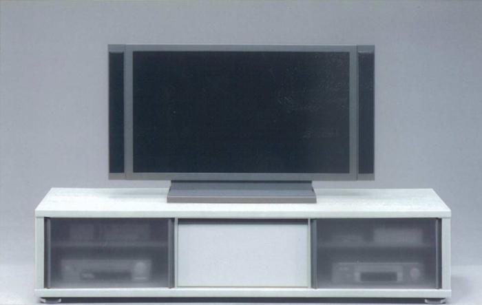 【送料込】【日本製】【TVボード】 ホワイトとブラウンの2タイプ 左右のガラス扉が印象的 幅160cm テレビボード