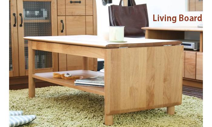 送料込 日本製家具 リビングテーブル ナチュラルなリビングに最適! 天然木アルダー無垢 ローテーブル 用途に応じて天板が拡がるエクステンションタイプ 国産 折畳み リビングボード 完成品