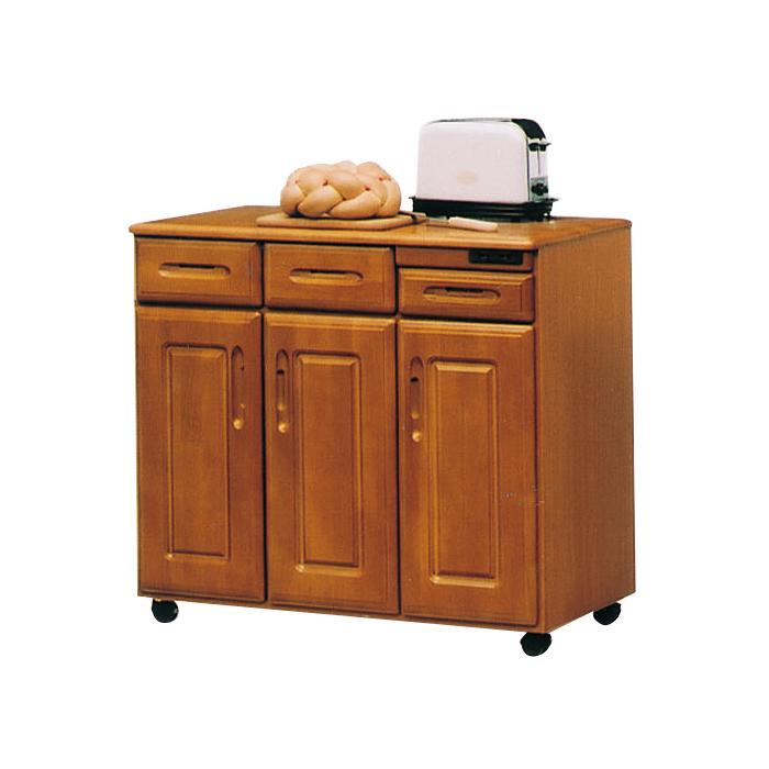 キッチンカウンター 幅90 幅90cm キッチン カウンター 収納 台所収納 木製 キャスター付き 日本製 国産 大川家具 90カウンター