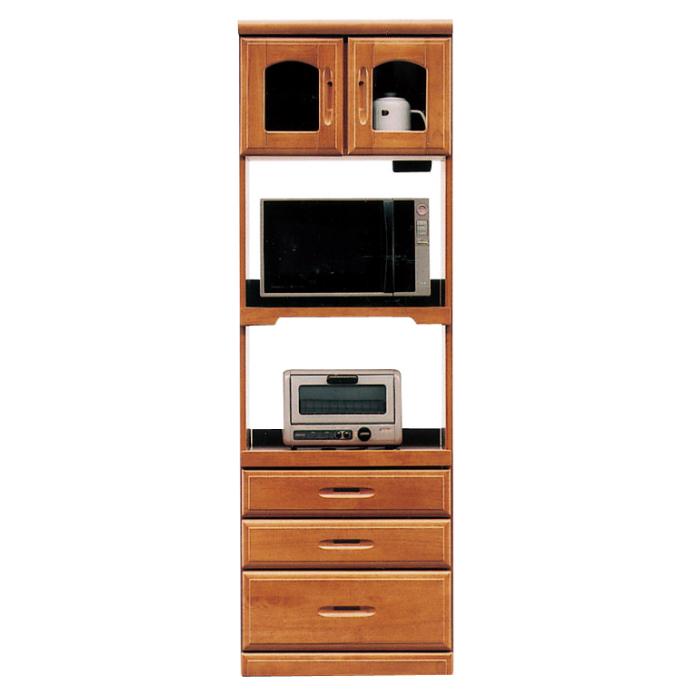 開梱設置配送 キッチンボード 幅60 キッチン収納 食器棚 キッチン 収納 木製 日本製 国産 大川家具 60収納レンジ2型