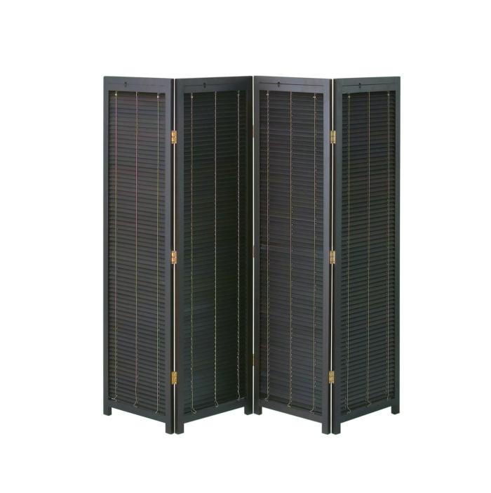 衝立 4連 高さ172 高さ1720mm ブラインド パーテーション パーティション スクリーン 間仕切り 開閉式 木製 天然木 簡単組立 リビング キッチン 玄関 エントランス オフィス 店舗 コンパクト