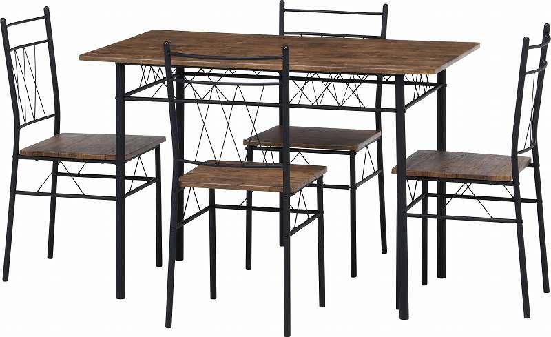 ダイニングテーブル ダイニング5点セット 4人掛け ダイニングテーブルセット ダイニングセット 5点セット ダイニング セット 食卓 ワンルーム コンパクト【代引不可】