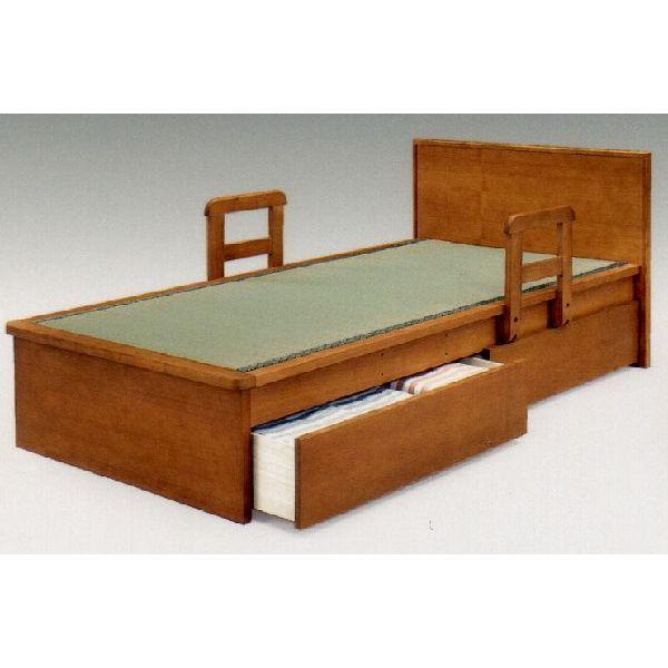 畳ベッド 平戸2型(引出し付き) シングル畳ベッド/引出し付き 収納 手摺り付き