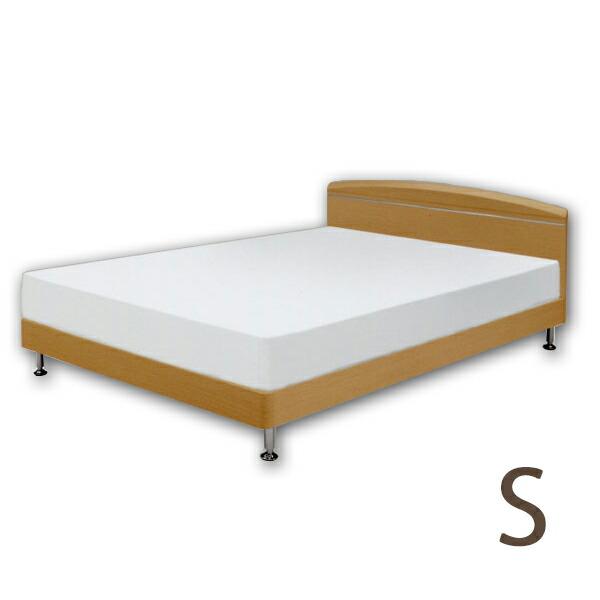 スーパーSALE限定【10%OFF】ベッド シングルベッド すのこベッド フレーム ナチュラル/ベッドフレーム シンプルデザイン 【ヘッドボードにアルミモールのアクセント!!】