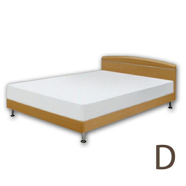 【スーパーSALE限定10%OFF】ベッド・ダブルベッド フレームのみ ベッドフレーム すのこベッド ナチュラル/木製ベッド シンプル 【ヘッドボードにアルミモールのアクセント!!】