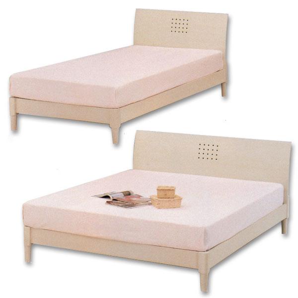 ワイドダブルベッド すのこベッド ベッドフレーム ホワイト/フレーム ワイドダブル シンプルデザイン