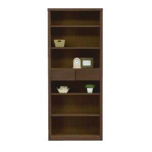 本棚 書棚 フリーボード 幅75cm 木製 ブラウン フリーラック サイドボード 収納ラック