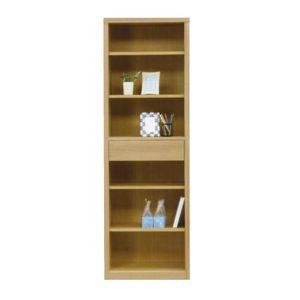 本棚 書棚 フリーボード 幅60cm 木製 ナチュラル フリーラック サイドボード 収納ラック スリム