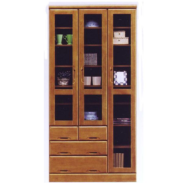 本棚 書棚 幅90cm ハイタイプ 木製 ライトブラウン 本棚 フリーボード フリーラック 収納ラック 引出し付き