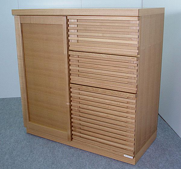 サイドボード カウンター リビング収納 収納家具 幅90cm 収納棚 整理棚 飾り棚ナチュラル