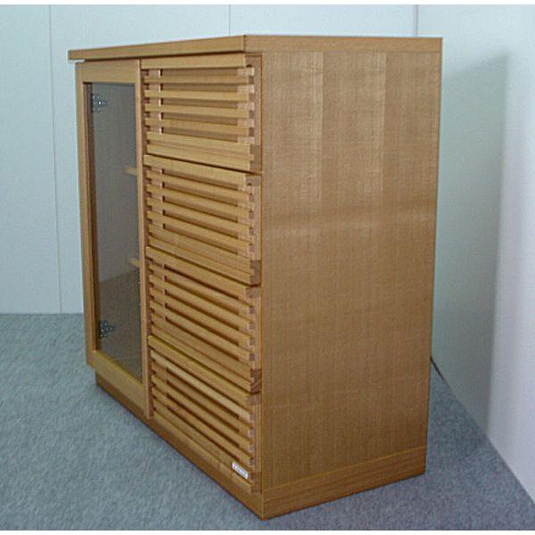 サイドボード リビング収納 収納家具 幅90cm 収納棚 整理棚 飾り棚 ナチュラル