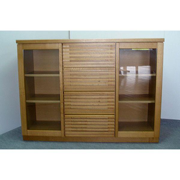 サイドボード リビング収納 収納家具 幅120cm 収納棚 整理棚 飾り棚 ナチュラル