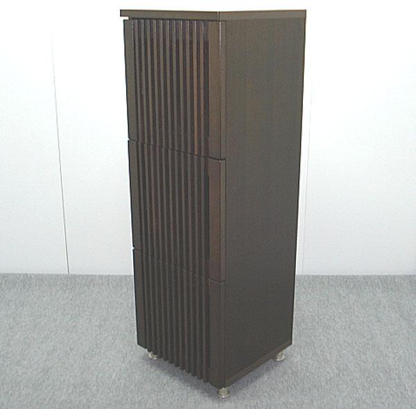 キャビネット リビング収納 収納家具 幅45cm 3段 収納棚 整理棚 飾り棚 スリム ブラウン