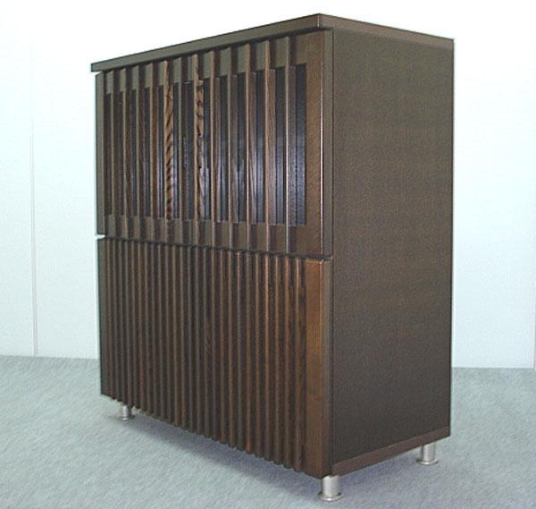 キャビネット リビング収納 収納家具 幅90cm 収納棚 整理棚 飾り棚 ブラウン