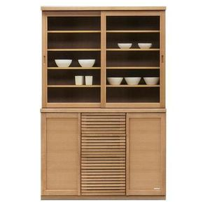 食器棚 キッチン収納 幅120cm ダイニングボード 木製 ナチュラル