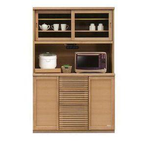 レンジボード レンジ台 食器棚 キッチン収納 幅120cm 木製 ナチュラル